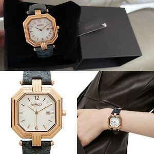 ⌚️⌚️⌚️⌚️Mimco New Maille Jadeite $229 Rose Gold TimePeace Watch + Box