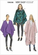 Very Easy Vogue Pattern V9038  Womens Loose fitting Cape   Size XS - M