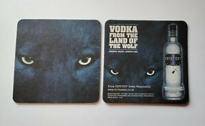 12 X ERISTOFF Vodka Beer Mats / Coasters double sided Home Bar / Home Pub