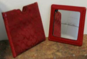 Authentic Coach Double Sided Mirror with Case