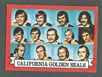 1973-74 OPC O-Pee-Chee Hockey California Golden Seals #95 Team Card Dark Back *2