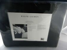 Ralph Lauren Palmer  Percale Cotton Blanket Full/Queen  Midnight Black