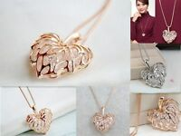 Silver/Gold Fashion Hollow Crystal Rhinestone Pendant Long Chain Necklace Newly