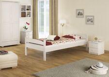 Estructura de cama blanco PINO MACIZO Individual 80x200 sin somier 60.32-08W Or