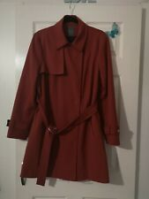 Women's Long-sleeve Lightweight Coat With Tie Excellent Condition Size 16...