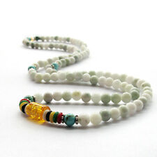 6mm Gemstone Tibet Buddhist 108 Prayer Beads Mala Necklace