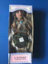 Cathay Collection Native American Porcelain Girl Doll