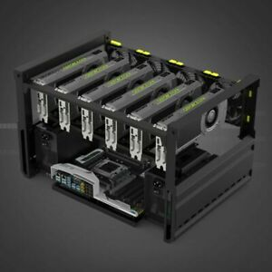 Veddha 6GPU Case Open Air Mining Frame Rig Ethereum LTC BTC Minercase T2 Edition