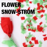Magician's Flower Snow Storm in China Red & Green Paper Flakes Party Magic Trick