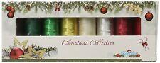 Mettler Polysheen Metallic Christmas Embroidery Thread Pack 8 Spools
