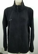 Columbia Full Zip Sweater Black Women Size Large P1665
