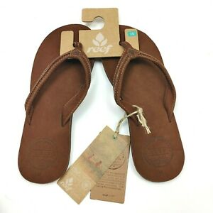 Reef Handmade Women's Cushion Sandal Thong Leather Bounce Swing 2 Tobacco 8