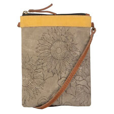 Mona B Sunny Small Crossbody Shoulder Bag Purse Sunflower Travel Pouch