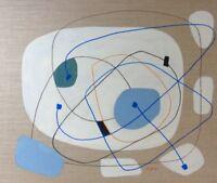 """Michael Feicht (geb. 1959 ) """"Liniengeflecht auf weißem Grund"""" Öl, signiert"""