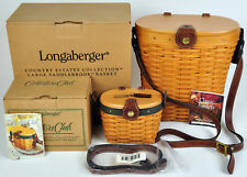 Longaberger Saddlebrook Basket Combo Collectors Club Purse Country Estates Set