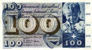 05 Switzerland / Schweiz P49i 100 Franken 1967
