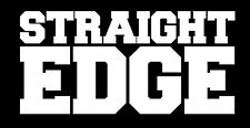 Straight Edge ADESIVI SXE XXX 0 hardcore punk Minor Threat HC BLACK FLAG Vegan