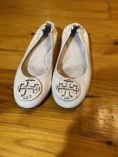 Womens Size 8.5 Tory Burch Flats Dress Shoes White