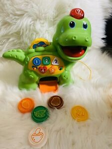 VTech Educational Kids Toy Chomp And Count Dino Baby Toddler Songs Learning USED
