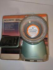 "Acu-Rite Wireless Rain Gauge-6""Collector-00 626Sb-Self Empty-Large Display-New"