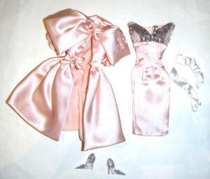 Silkstone Barbie Fashion Pink Cape-Collared Coat, Dress For Barbie Doll rf11