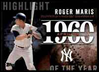 2015 TOPPS SERIES 2 HIGHLIGHT OF THE YEAR ROGER MARIS #H-11 INSERT