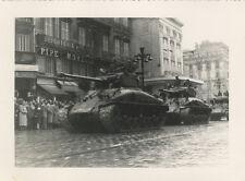 Photo Argentique Tank Militaire Char Marseille Libétaion ? 1944