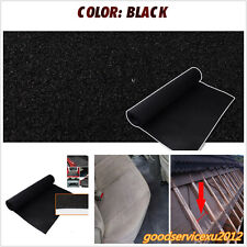 Durable Black 40''x79'' Car Vehicle Speaker Box Floor Carpet Heatproof Mat Liner