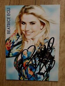 Beatrice Egli - Handsignierte Autogrammkarte (Original)