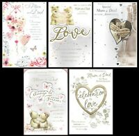 MUM and DAD ~  ANNIVERSARY CARD ~ FABULOUS VERSES ~ Choice of design ~ L@@K...
