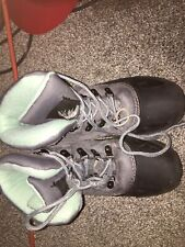 ITASCA Thinsulate Soft Winter GRAY/aqua Boots Women's Sz. 8 - Waterproof Lowers!