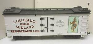 LBG 4072 P 01 1206 COLORADO MIDLAND REFRIGERATOR LINE WHITE REEFER G SCALE TRAIN