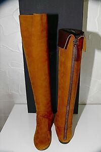 Luxury Leather Boots Camel giuseppe zanotti I18005 Size 37(US 7) New Val