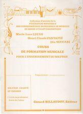 Cours de formation musicale - Solfège chanté et théorie. Préparatoire 1. Livre d
