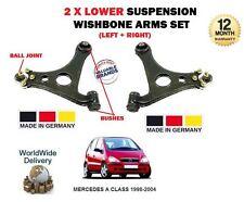 Per Mercedes Classe 1998-2004 NUOVO 2x INFERIORE SINISTRA + DESTRA SOSPENSIONE FORCELLA BRACCIO
