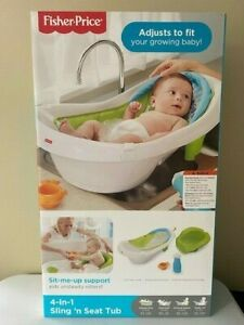 Fisher-Price 4-in-1 Sling 'n Seat Tub, Multicolor
