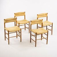 Set of Four Vintage 1950 Charlotte Perriand Dordogne Chairs for Robert Sentou