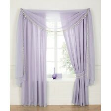 "Voile 3"" Tape Top Lined Curtains - Heather - 44x72"" - SS01 70"