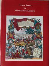 LIVRES RARES ET MANUSCRITS ANCIENS / 2007 Bibliographie. BEL EXEMPLAIRE