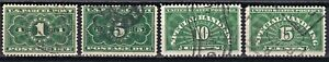 United States 1913 Parcel post Postage due JQ1, 3-5 used