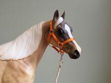 Traditional Scale Halloween Pumpkin Orange Model Horse Halter For Breyer