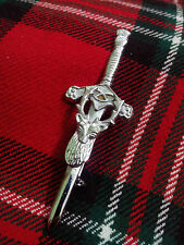 """TC New Stag Head Kilt Pin Chrome Finish 3.5""""/Scottish Kilt Pins Deer Stag Head"""