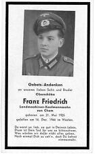 orig. STERBEBILD - DEATH CARD - Ardennen Offensive / Battle of the Bulge 1944