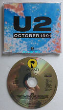 U2 OCTOBER 1991 CD Single UK PROMO