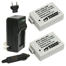 Wasabi Power Battery (2-Pack) and Charger for Canon LP-E8 and Canon EOS 550D ...