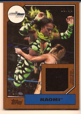 NAOMI 2017 TOPPS WWE HERITAGE AUTHENTIC EVENT WORN SHIRT RELIC /99