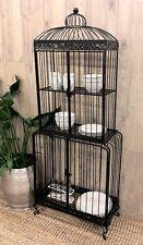 OPEN DISPLAY CABINET BIRD CAGE STAND SHELF SHELVING STORAGE RACK HALLWAY KITCHEN