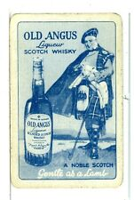 """Single Vintage Playing Card """"Old Angus"""" Scotch Whisky"""
