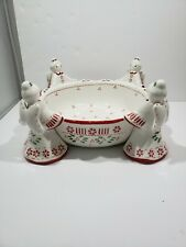 Temptations By Tara-Angel 1.5 Qt. Serving Bowl With 4 Angel Figural Accents.