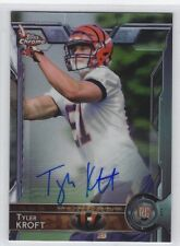2015 Topps Chrome TYLER KROFT AUTO RC Bengals FREE SHIP